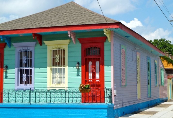 Colorful New Orleans House